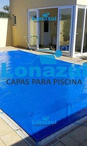 Capa para piscina com dreno